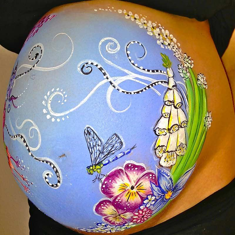 Belly Painting Schmetterling