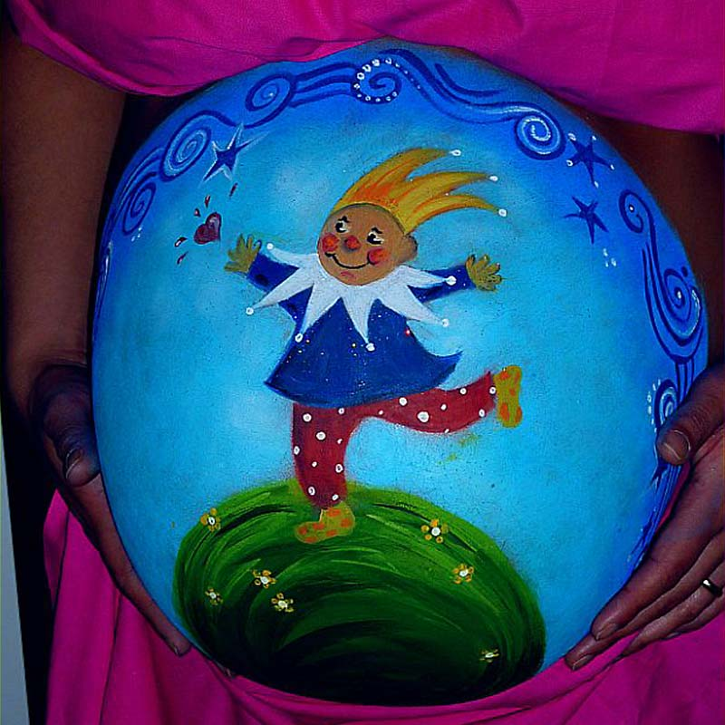 14 Belly Painting Der kleine Prinz