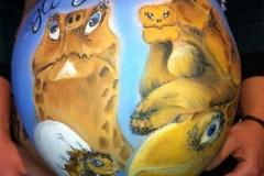 Belly Painting Schildkröte