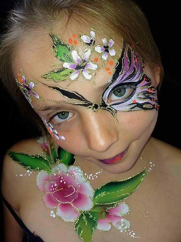 28 Kinderschminken - Schmetterling